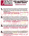 Dos and DON'TS of Allergy Shots (Chinese)