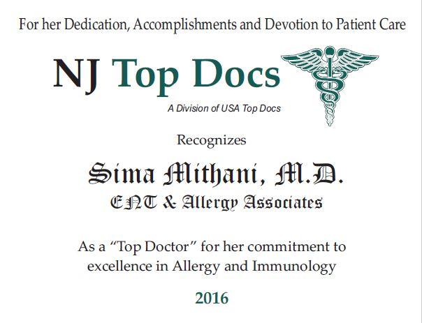 Sima Mithani M D Allergist Amp Immunologist Hackensack New