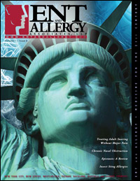 ENT and Allergy Magazine cover, Volume I, Issue II