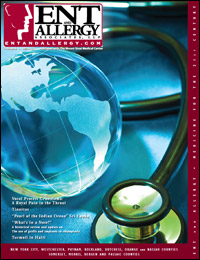 ENT and Allergy Magazine cover, Volume I, Issue IV